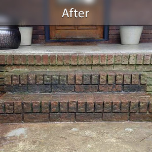 Sinking stairs repaired with PolyLevel® Louisville