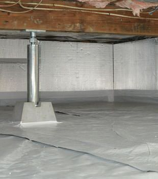 Installed crawl space insulation in Burlington