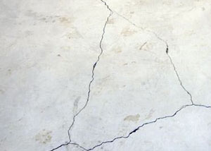 cracks in a slab floor consistent with slab heave in Fort Thomas.