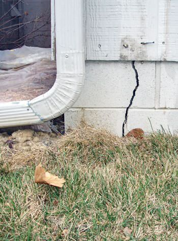 foundation wall cracks due to street creep in La Grange