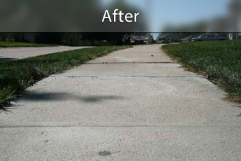 Fixing sunken concrete with PolyLevel® in Louisville