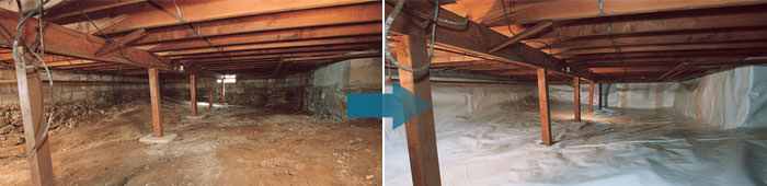 Crawl Space Repair in KY, including Radcliff, Shepherdsville & Louisville.
