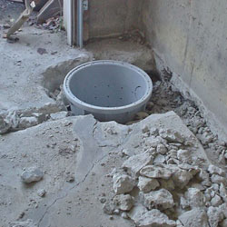 Placing a sump pit in a Georgetown home
