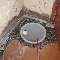 Installing a sump in a sump pump liner in a Fort Mitchell home