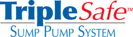 Sump pump system logo for our TripleSafe™, available in areas like London