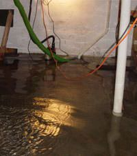 Several feet of floodwaters in a Fort Knox basement