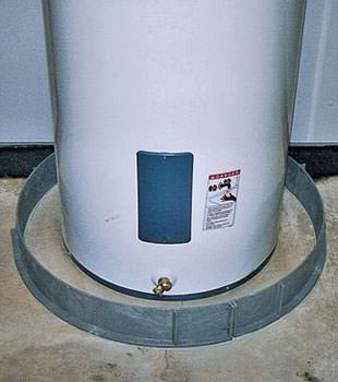An old water heater in Hebron, KY with flood protection installed