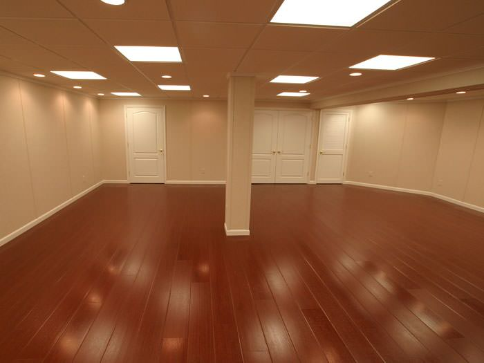 Gentil Rosewood Faux Wood Basement Flooring For Finished Basements In Louisville  ...