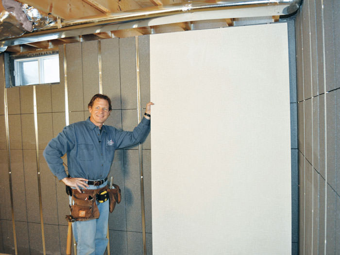 High Quality ... Installing Wall Panels On Top Of Our Basement Wall Insulation In Fort  Knox ... Awesome Ideas