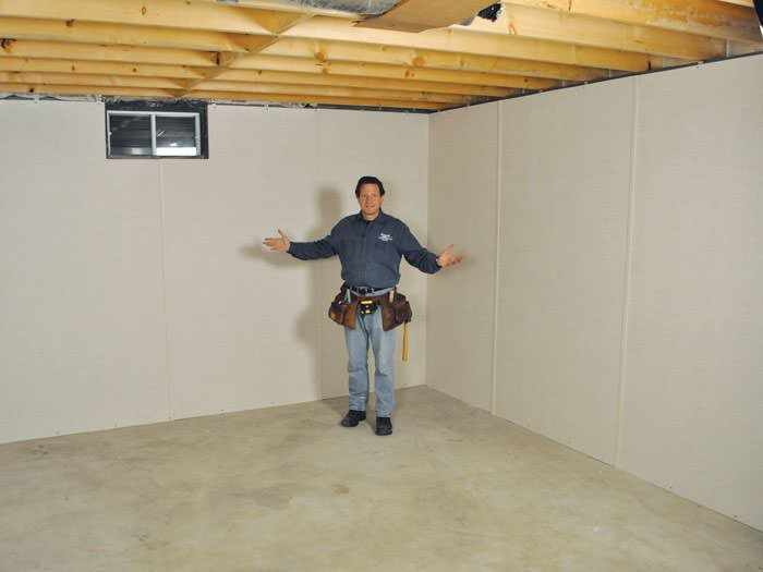 Charming Basement Wall Finishing Ideas Part - 12: ... Fort Knox Basement Insulation Covered By EverLast™ Wall Paneling, With  SilverGlo™ Insulation Underneath