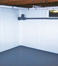 Plastic basement wall panels installed in a Shelbyville, Kentucky home