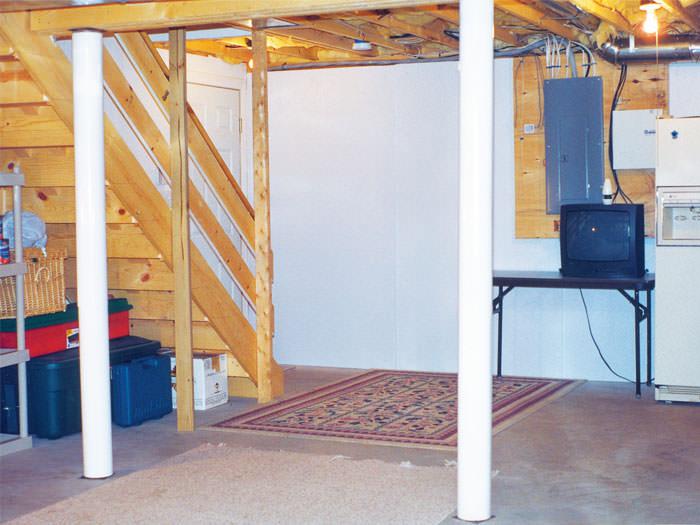 wall covering in louisville lexington frankfort wet basement wall