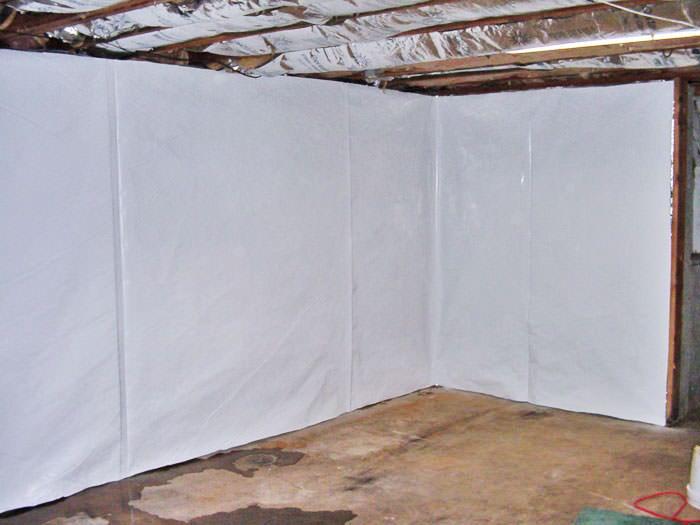 Basement Wall Vapor Barrier System In Louisville