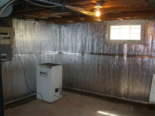 Finishing Basement Walls : Thermaldry basement radiant wall barrier in louisville
